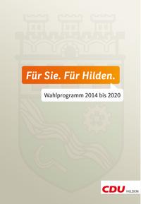 Wahlprogramm 2014 bis 2020 zum Download
